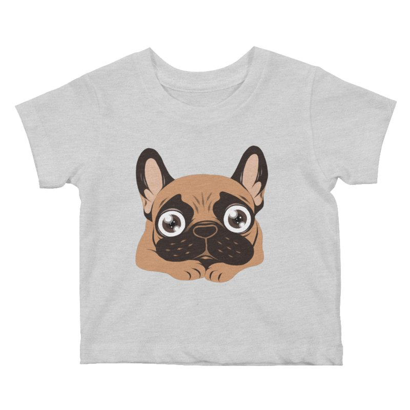 Black mask fawn Frenchie is ready to play Kids Baby T-Shirt by Emotional Frenchies - Cute French Bulldog T-shirts