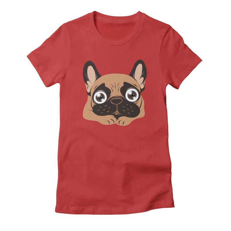 Black mask fawn Frenchie is ready to play Women's T-Shirt by Emotional Frenchies - Cute French Bulldog T-shirts