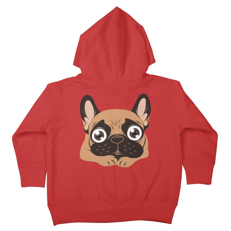 Black mask fawn Frenchie is ready to play Kids Toddler Zip-Up Hoody by Emotional Frenchies - Cute French Bulldog T-shirts