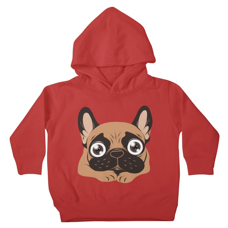 Black mask fawn Frenchie is ready to play Kids Toddler Pullover Hoody by Emotional Frenchies - Cute French Bulldog T-shirts