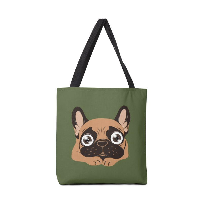Black mask fawn Frenchie is ready to play Accessories Tote Bag Bag by Emotional Frenchies - Cute French Bulldog T-shirts