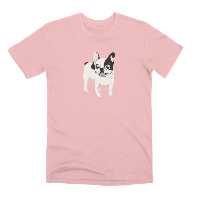 Happy and Fun Single Hooded Pied French Bulldog Men's Premium T-Shirt by Emotional Frenchies - Cute French Bulldog T-shirts