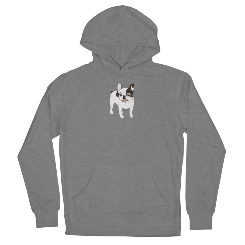 Happy and Fun Single Hooded Pied French Bulldog Women's Pullover Hoody by Emotional Frenchies - Cute French Bulldog T-shirts