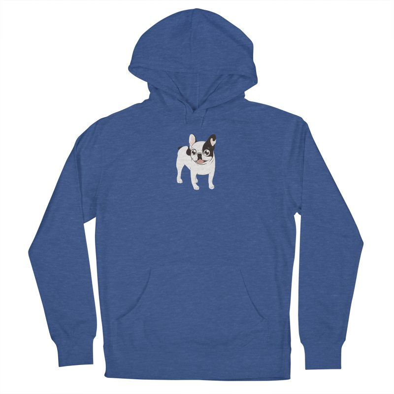 Happy and Fun Single Hooded Pied French Bulldog Men's Pullover Hoody by Emotional Frenchies - Cute French Bulldog T-shirts