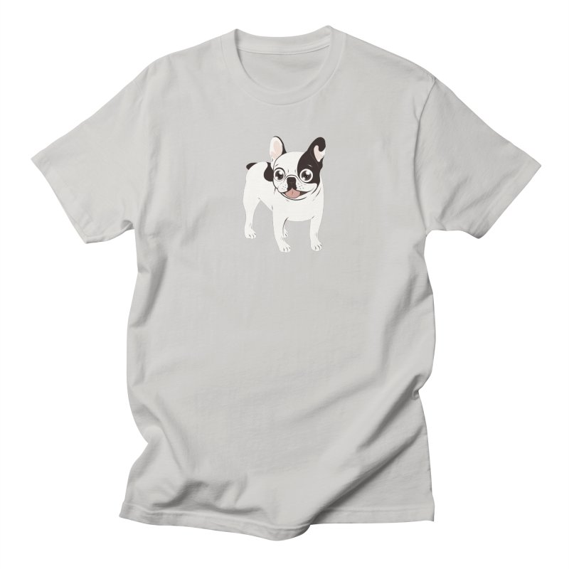 Happy and Fun Single Hooded Pied French Bulldog Men's T-Shirt by Emotional Frenchies - Cute French Bulldog T-shirts