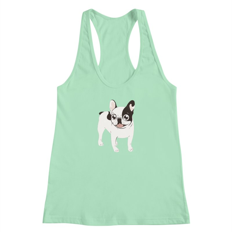 Happy and Fun Single Hooded Pied French Bulldog Women's Tank by Emotional Frenchies - Cute French Bulldog T-shirts