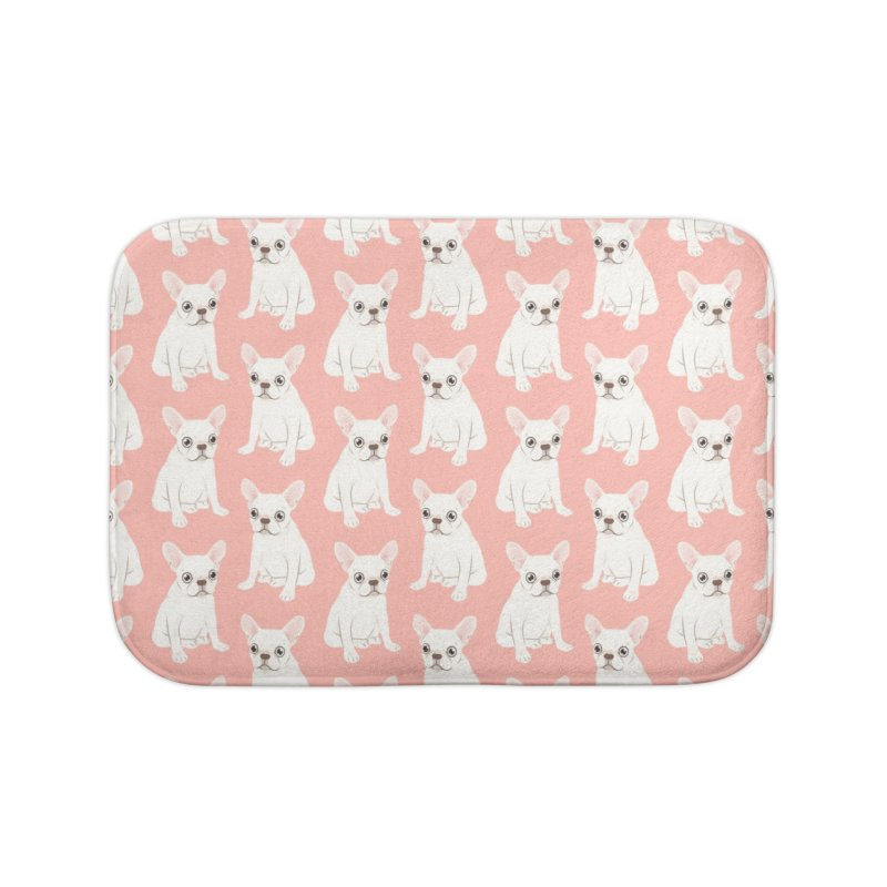 Sweet Cream French Bulldog Wants Your Pet Home Bath Mat by Emotional Frenchies - Cute French Bulldog T-shirts