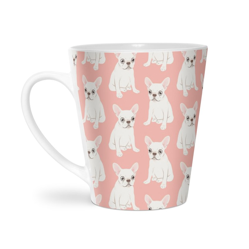 Sweet Cream French Bulldog Wants Your Pet Accessories Latte Mug by Emotional Frenchies - Cute French Bulldog T-shirts