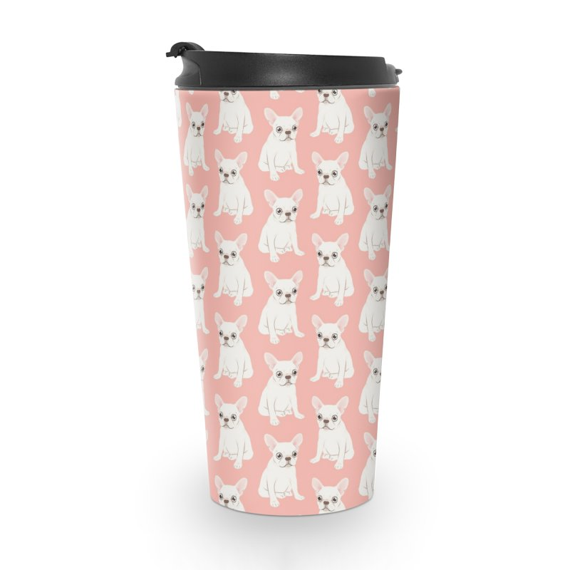 Sweet Cream French Bulldog Wants Your Pet Accessories Travel Mug by Emotional Frenchies - Cute French Bulldog T-shirts