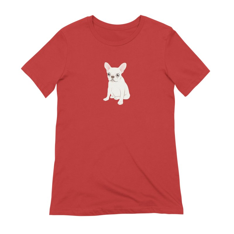 Sweet Cream French Bulldog Wants Your Pet Women's Extra Soft T-Shirt by Emotional Frenchies - Cute French Bulldog T-shirts