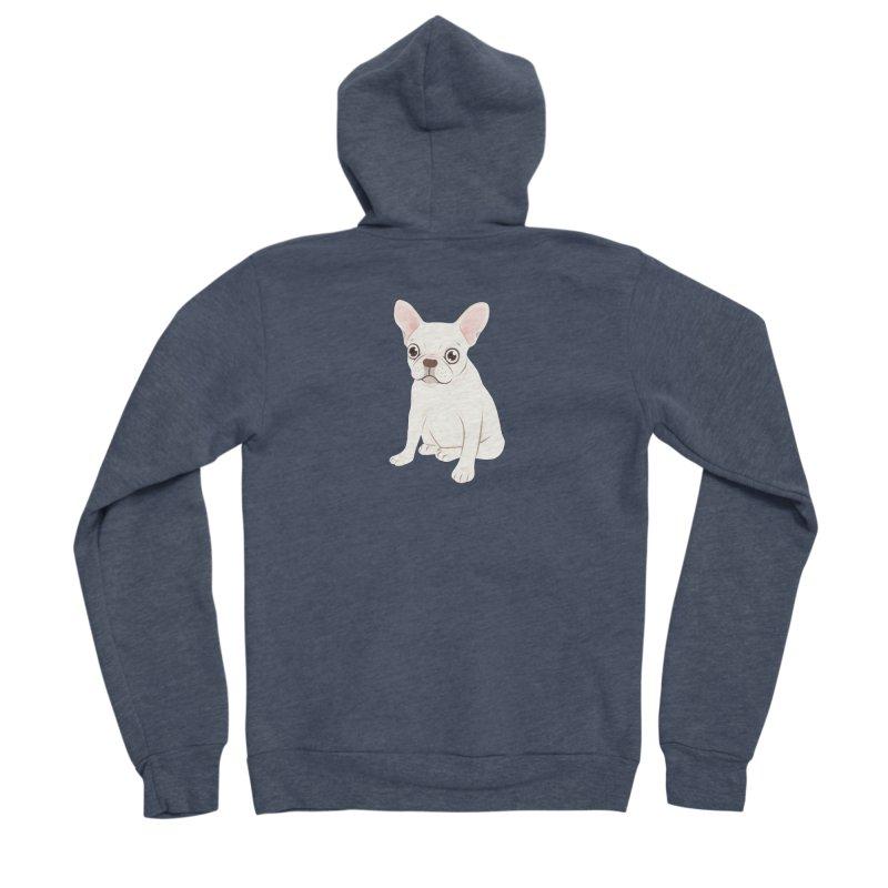 Sweet Cream French Bulldog Wants Your Pet Men's Sponge Fleece Zip-Up Hoody by Emotional Frenchies - Cute French Bulldog T-shirts