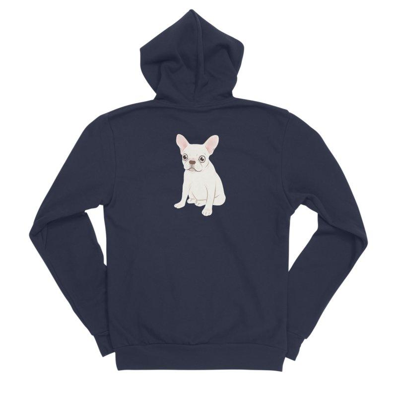 Sweet Cream French Bulldog Wants Your Pet Women's Sponge Fleece Zip-Up Hoody by Emotional Frenchies - Cute French Bulldog T-shirts