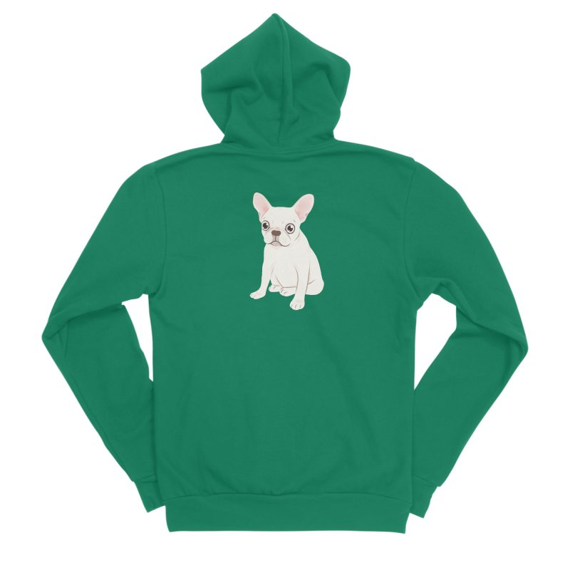Sweet Cream French Bulldog Wants Your Pet Men's Sponge Fleece Zip-Up Hoody by Emotional Frenchies - Cute French Bulldog T-shirts