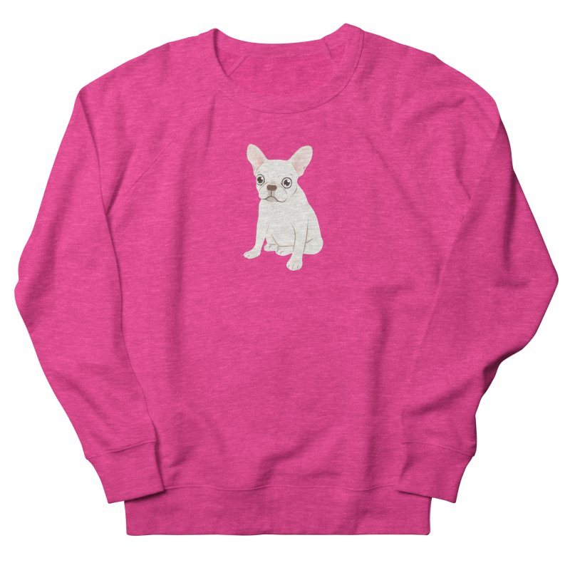 Sweet Cream French Bulldog Wants Your Pet in Women's French Terry Sweatshirt Heather Heliconia by Emotional Frenchies - Cute French Bulldog T-shirts