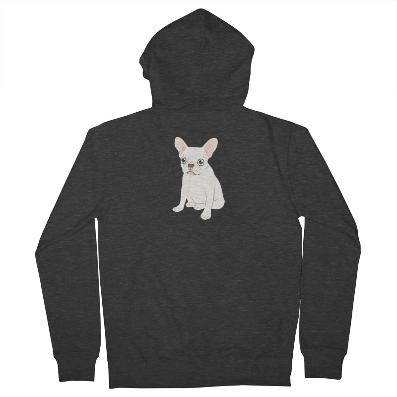 Sweet Cream French Bulldog Wants Your Pet Men's French Terry Zip-Up Hoody by Emotional Frenchies - Cute French Bulldog T-shirts