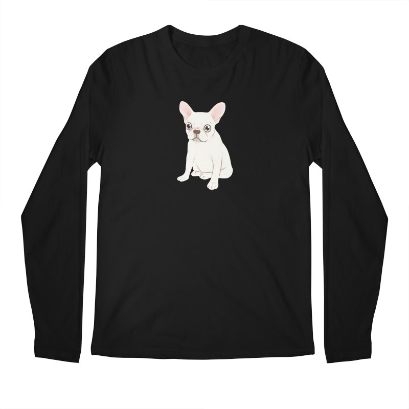 Sweet Cream French Bulldog Wants Your Pet Men's Regular Longsleeve T-Shirt by Emotional Frenchies - Cute French Bulldog T-shirts