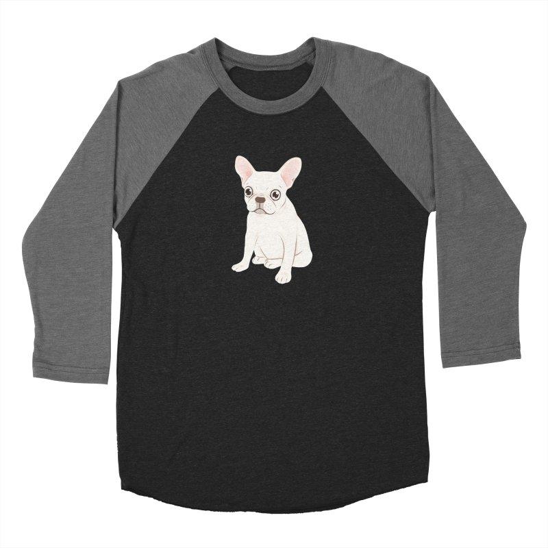Sweet Cream French Bulldog Wants Your Pet Men's Baseball Triblend Longsleeve T-Shirt by Emotional Frenchies - Cute French Bulldog T-shirts