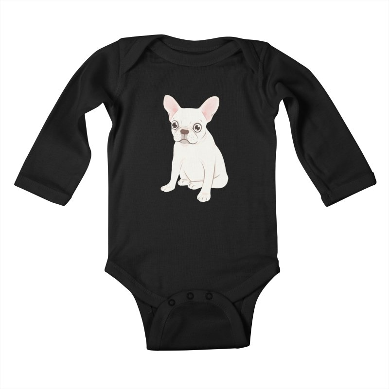 Sweet Cream French Bulldog Wants Your Pet Kids Baby Longsleeve Bodysuit by Emotional Frenchies - Cute French Bulldog T-shirts