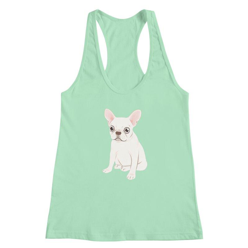 Sweet Cream French Bulldog Wants Your Pet Women's Racerback Tank by Emotional Frenchies - Cute French Bulldog T-shirts