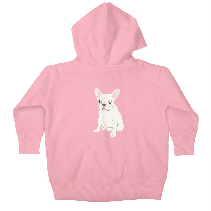 Sweet Cream French Bulldog Wants Your Pet Kids Baby Zip-Up Hoody by Emotional Frenchies - Cute French Bulldog T-shirts