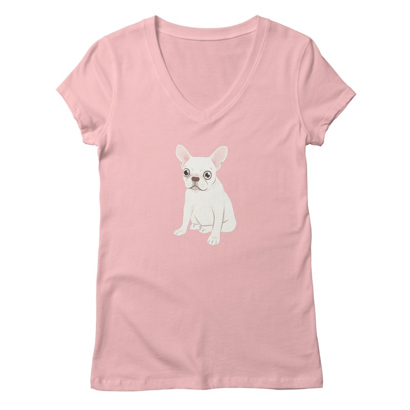Sweet Cream French Bulldog Wants Your Pet Women's Regular V-Neck by Emotional Frenchies - Cute French Bulldog T-shirts