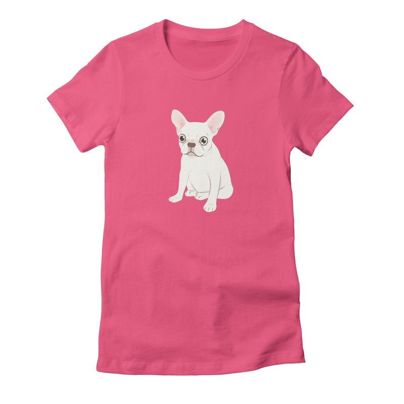 Sweet Cream French Bulldog Wants Your Pet Women's Fitted T-Shirt by Emotional Frenchies - Cute French Bulldog T-shirts