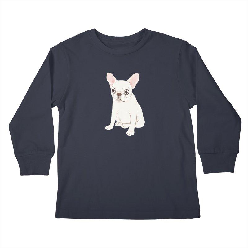 Sweet Cream French Bulldog Wants Your Pet Kids Longsleeve T-Shirt by Emotional Frenchies - Cute French Bulldog T-shirts