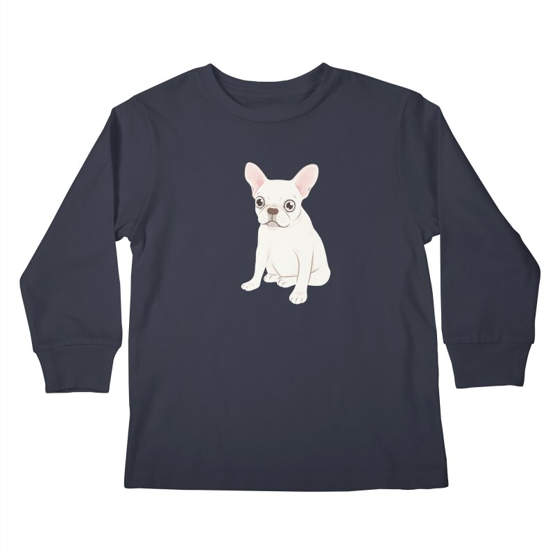 Sweet Cream French Bulldog Wants Your Pet Kids Longsleeve T-Shirt by Emotional Frenchies - Cute French Bulldog T-shirts