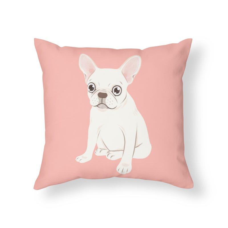 Sweet Cream French Bulldog Wants Your Pet Home Throw Pillow by Emotional Frenchies - Cute French Bulldog T-shirts