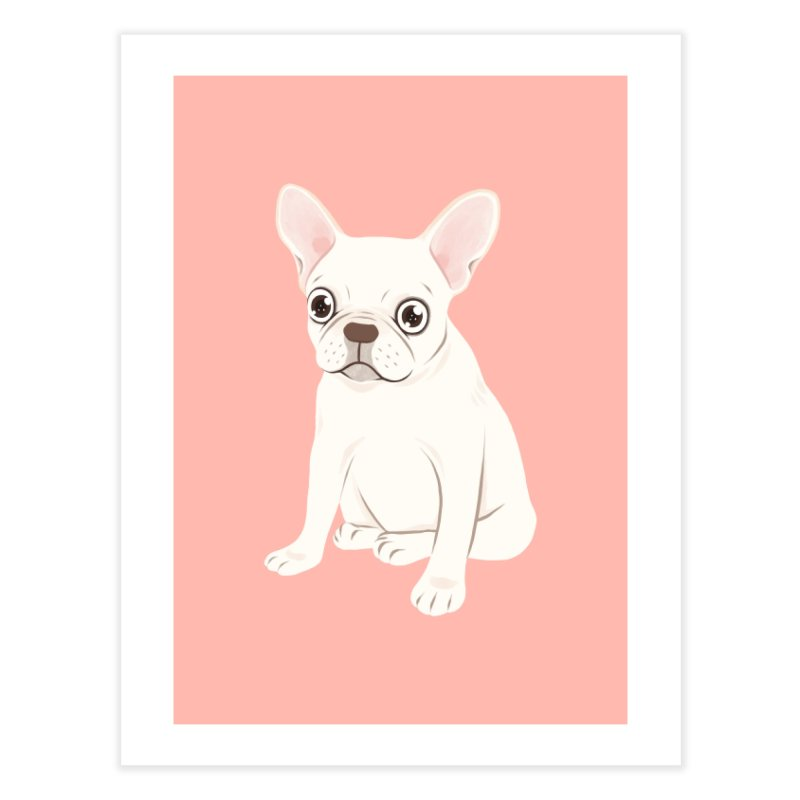 Sweet Cream French Bulldog Wants Your Pet Home Fine Art Print by Emotional Frenchies - Cute French Bulldog T-shirts