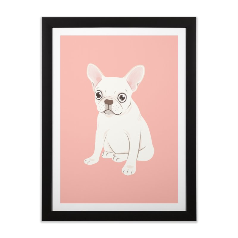 Sweet Cream French Bulldog Wants Your Pet Home Framed Fine Art Print by Emotional Frenchies - Cute French Bulldog T-shirts