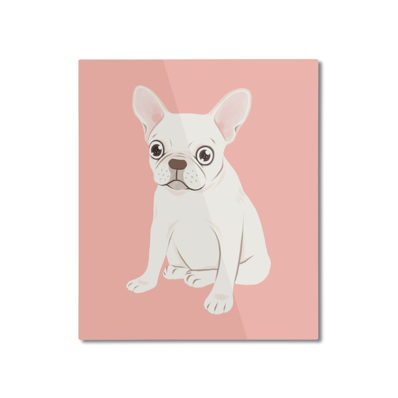Sweet Cream French Bulldog Wants Your Pet Home Mounted Aluminum Print by Emotional Frenchies - Cute French Bulldog T-shirts