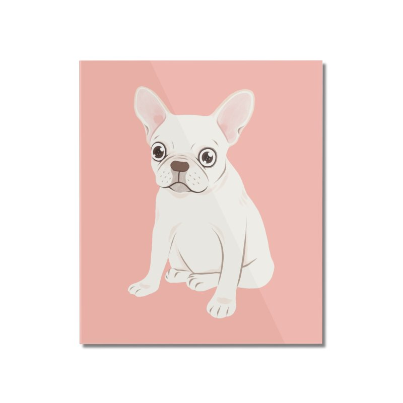 Sweet Cream French Bulldog Wants Your Pet Home Mounted Acrylic Print by Emotional Frenchies - Cute French Bulldog T-shirts