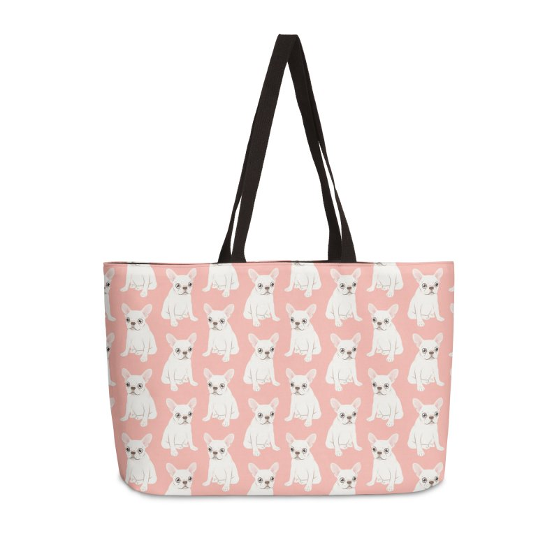 Sweet Cream French Bulldog Wants Your Pet Accessories Weekender Bag Bag by Emotional Frenchies - Cute French Bulldog T-shirts