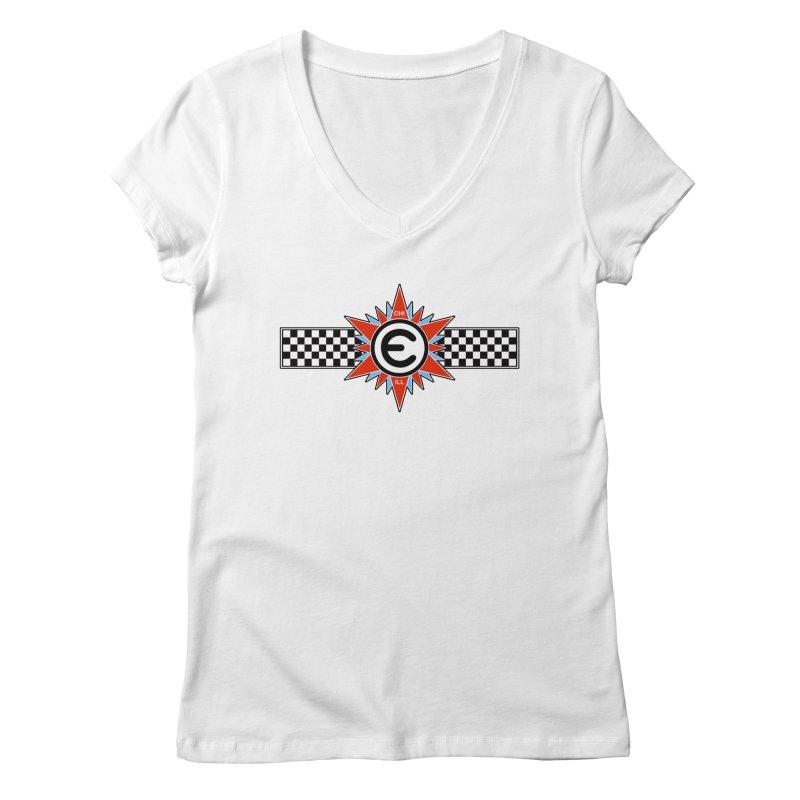 Emporium Team Soccer Shirt Women's Regular V-Neck by Emporium Arcade Bar