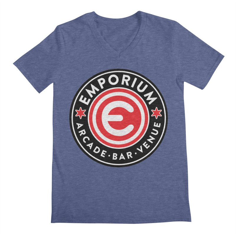 Emporium Chicago Seal Men's Regular V-Neck by Emporium Arcade Bar
