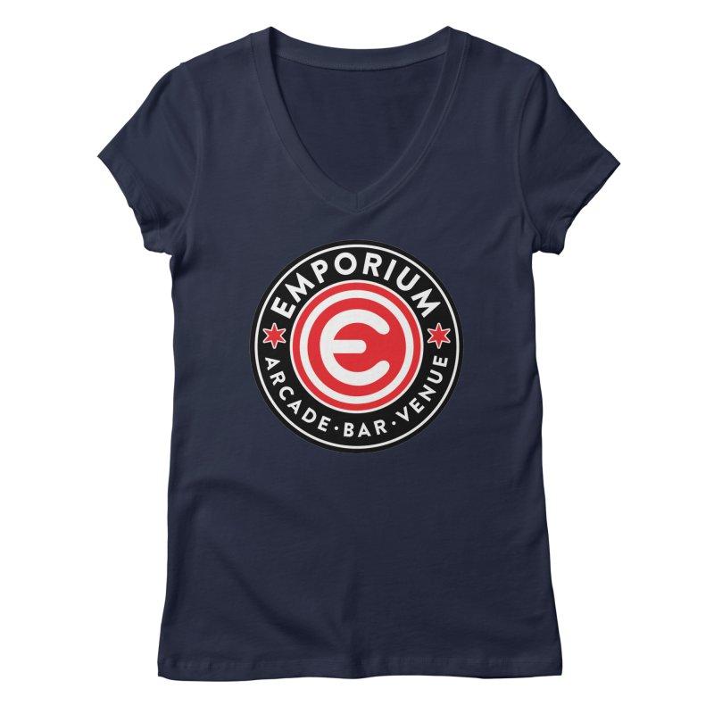 Emporium Chicago Seal Women's Regular V-Neck by Emporium Arcade Bar