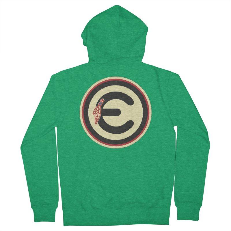 "Emporium ""Go Hawks"" Logo Men's French Terry Zip-Up Hoody by Emporium Arcade Bar"