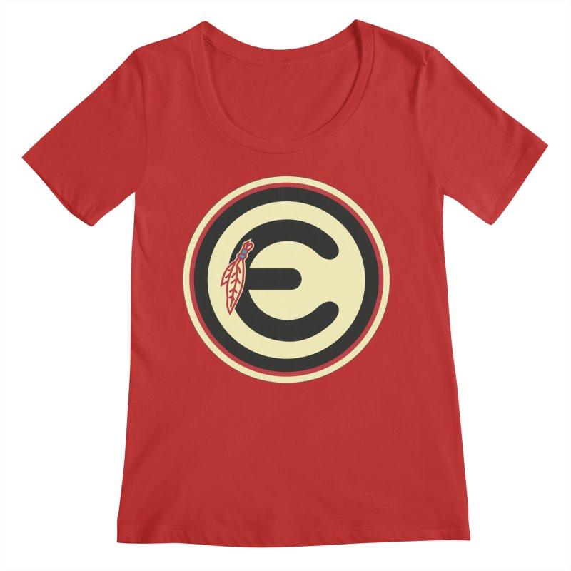 "Emporium ""Go Hawks"" Logo Women's Regular Scoop Neck by Emporium Arcade Bar"