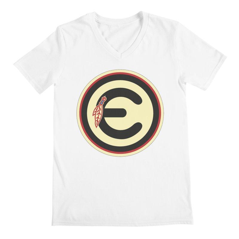 """Emporium """"Go Hawks"""" Logo Men's V-Neck by Emporium Arcade Bar"""