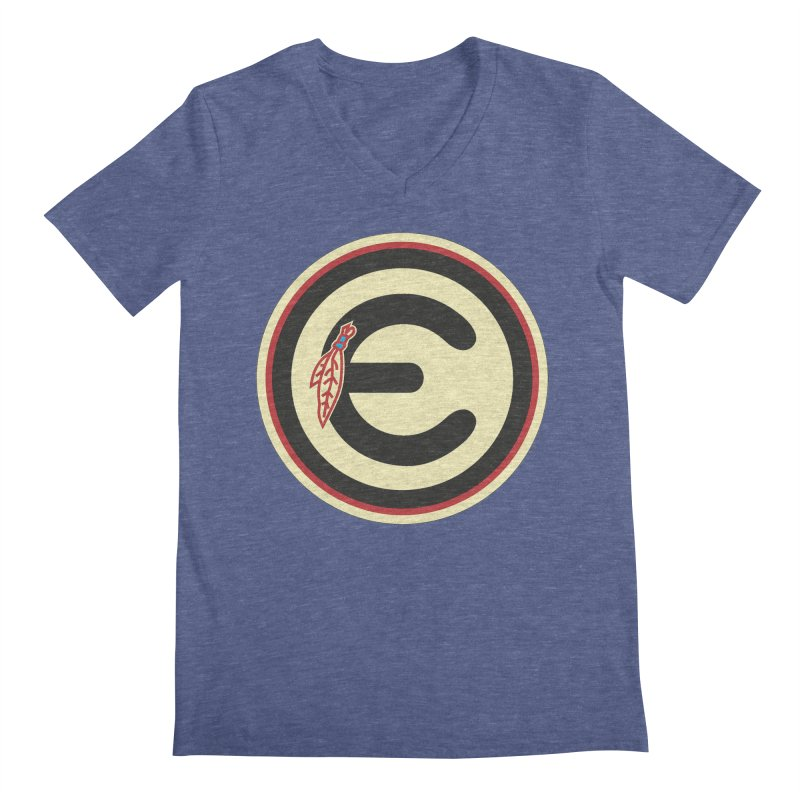 "Emporium ""Go Hawks"" Logo Men's Regular V-Neck by Emporium Arcade Bar"