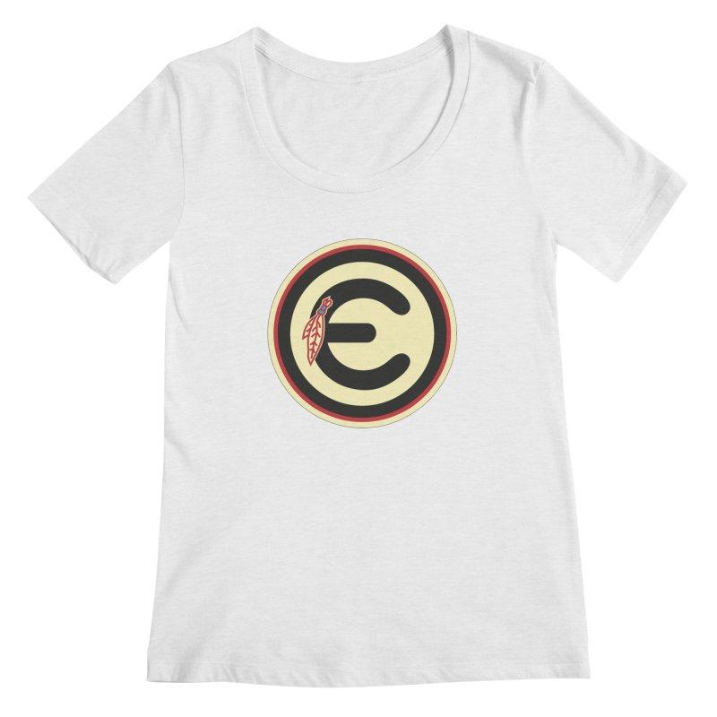 """Emporium """"Go Hawks"""" Logo Women's Scoop Neck by Emporium Arcade Bar"""