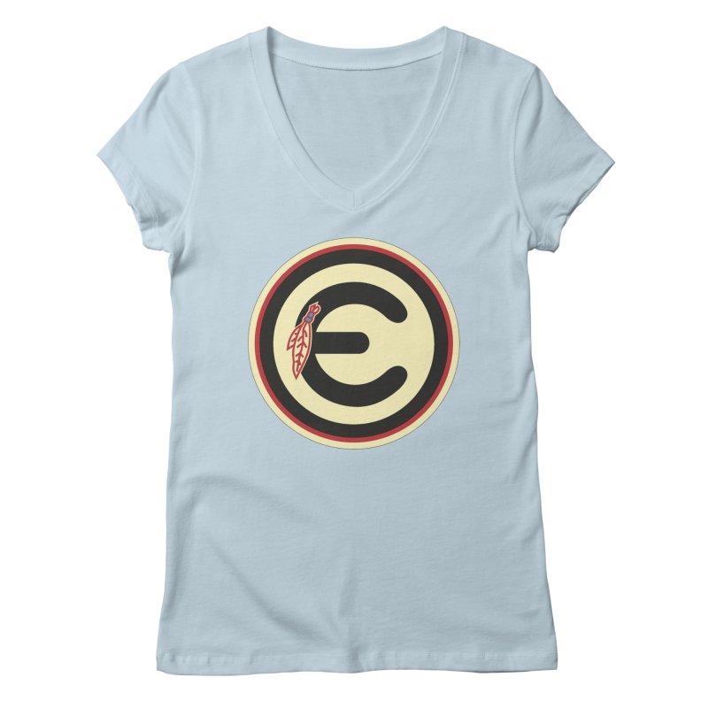 """Emporium """"Go Hawks"""" Logo Women's Regular V-Neck by Emporium Arcade Bar"""