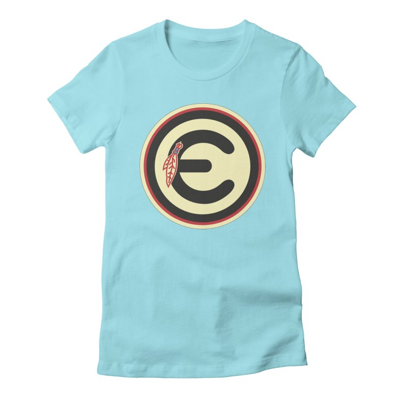 "Emporium ""Go Hawks"" Logo Women's Fitted T-Shirt by Emporium Arcade Bar"