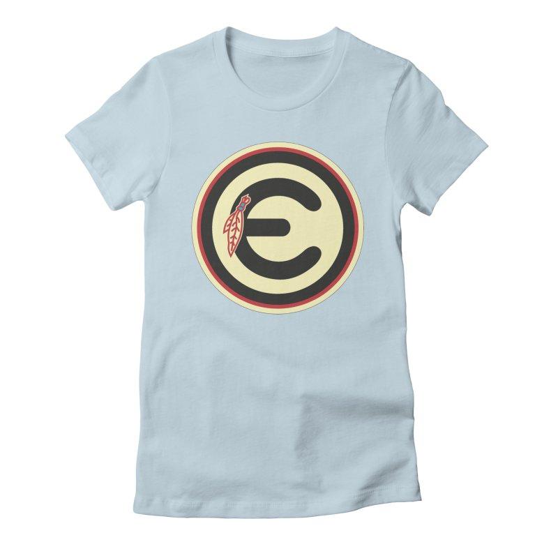 "Emporium ""Go Hawks"" Logo Women's Fitted T-Shirt by Emporium Arcade Bar"
