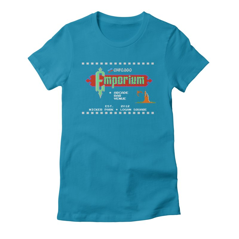"Emporium ""Castlevania"" Design Women's Fitted T-Shirt by Emporium Arcade Bar"