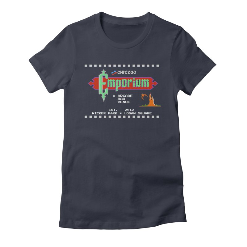 "Emporium ""Castlevania"" Design Women's Fitted T-Shirt by Emporium Arcade Bar"