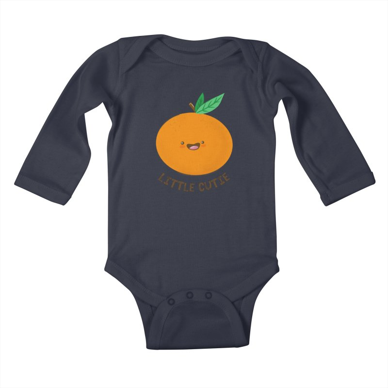 Little Cutie Kids Baby Longsleeve Bodysuit by empty bamboo girl Artist Shop