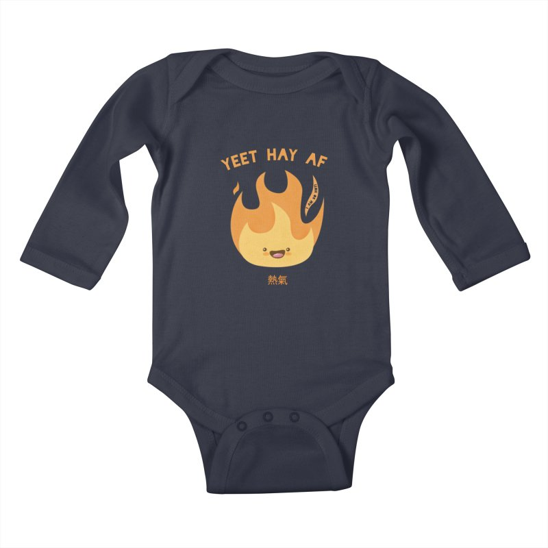 I Am So Hot – Yeet Hay AF Kids Baby Longsleeve Bodysuit by empty bamboo girl Artist Shop