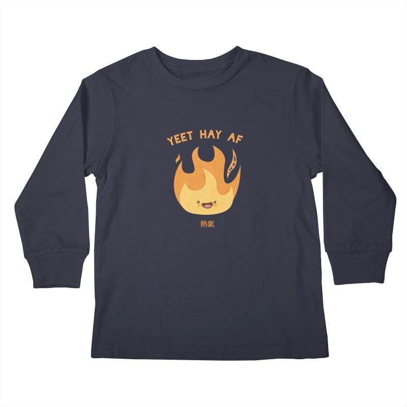 I Am So Hot – Yeet Hay AF Kids Longsleeve T-Shirt by empty bamboo girl Artist Shop